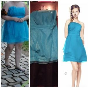 Turquoise David's Bridal Dress